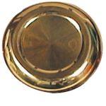 Dæksplade, Til rat, Messing, Guldfarvet (Ø63mm) - 1stk.