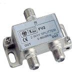 Glomex, TV antenne, Splitter, 1 indgang - 2 udgange - 1stk.