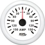 KUS, SeaV, Amperemeter, Hvid, Ø52mm (+/- 150 Amp) - 1stk.