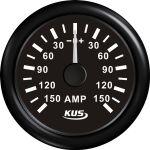 KUS, SeaV, Amperemeter, Sort, Ø52mm (+/- 150 Amp) - 1stk.