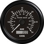KUS, SeaQ, GPS speed (0-30), Analog, Sort, Ø85mm - 1stk.