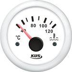 KUS, SeaV, Temperaturmåler til kølevand, Analog, Ø52mm, Hvid (12V,24V) - 1stk.