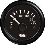 KUS, SeaV, Temperaturmåler til kølevand, Analog, Ø52mm, Sort (12V,24V) - 1stk.