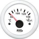 KUS, SeaV, Temperaturmåler til olie, Analog, Ø52mm, Hvid (12V,24V) - 1stk.