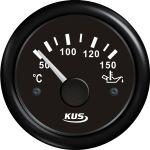 KUS, SeaV, Temperaturmåler til olie, Analog, Ø52mm, Sort (12V,24V) - 1stk.