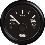 KUS, SeaQ, Tankmåler, Analog, Sort, Ø52mm (240-33Ω) - 1stk.