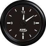 KUS, SeaV, Ur, Analog, Ø52mm, Sort (12V,24V) - 1stk.