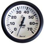 Faria, Dress White, Omdrejningstæller (0-7000 RPM, Outboard), Universal, Hvid, Ø85mm - 1stk.