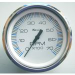 Faria, Chesapeak, Omdrejningstæller (0-7000 RPM, Outboard), Universal, Hvid, Ø85mm - 1stk.