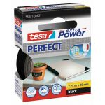 Tesa, Lærredstape, Extra Power Perfect, Sort (19mmx2,75m) - 1 Rulle