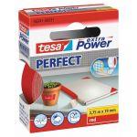Tesa, Lærredstape, Extra Power Perfect, Rød (19mm/2,75m) - 1 Rulle