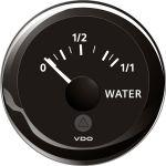 VDO, Tankmåler, Vand (4-20 mA), Ø 52 mm, Sort - 1stk.