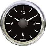 VDO, Ur, Sort, Ø52mm (12V) - 1stk.