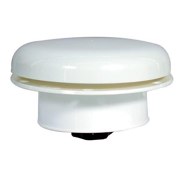 Ventilator (Champignon), Med insektnet, Hvid, Nylon, Ø100mm/Ø152mm - 1stk.